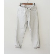 Ordinary fits(オーディナリーフィッツ)DENIM CROPPED PANTS white【再入荷】【送料無料】【メール便不可】【メンズ&レ...