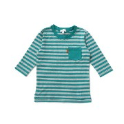 【3can4on(Kids) (サンカンシオン)】七分袖ボーダー天竺Tシャツキッズ トップス カットソー・Tシャツ ピンク