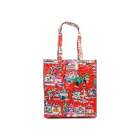 Cath Kidston キャスキッドソン トートバッグ ブックバッグ 2015年-2016年秋冬 Book Bag 515665 W'Gusset OC Christmas Red [並行...