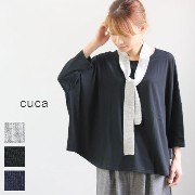 cuca (キュカ)天竺バックギャザー Tシャツ 3colormade in japancu-1124-z-z-n