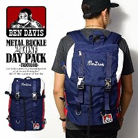 (ベンデイビス)BEN DAVIS公式 METAL BUCKLE 2TONE DAY PACK -TRICOLOR- FREE