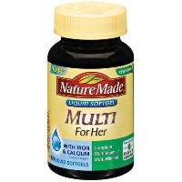 Nature Made Multi For Her with Iron & Calcium, Liquid Softgels, 60 ct. by Nature Made [並行輸入品]