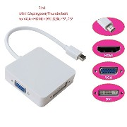 【PCATEC】 Apple用 Mini Displayport/Thunderbolt to VGA/HDMI/ DVI 変換アダプタ (Mini Displayport-VGA/HDMI/ DVI)