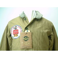 "BUZZ RICKSON'S x PEANUTS (バズリクソンズ x ピーナッツ) USN N-1 DECK JACKET ""NAVY DEPARTMENT""SNOOPY PATCH送料無料 【smtb-TK】"