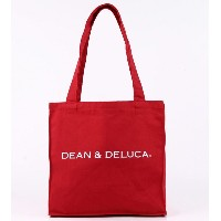 DEAN&DELUCA ディーン&デルーカ トートバッグ レッド アメリカ限定品 IN0520 [並行輸入品]