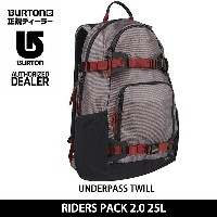 2017 BURTON バートン バックパック RIDERS PACK 2.0 25L UNDERPASS TWILL 11038103205 【カバン】 即日発送