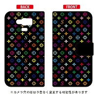 【送料無料】 手帳型スマートフォンケース Monogram ブラック design by ROTM / for AQUOS SERIE mini SHV31/au 【SECOND SKIN】shv31...