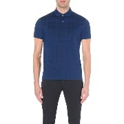 ヒューゴボス hugo boss メンズ トップス ポロシャツ【regular-fit mercerised cotton-pique polo shirt】Bright blue