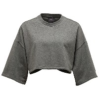 プーマ CROPPED CREW NECK T-SHIRT ウィメンズ Charcoal Heather