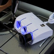 Aipig カーチャージャー 車載 充電器 3連シガーソケット USB 2ポート搭載 スマートフォン iphone Android 充電可能 合...