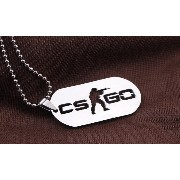 CS GO Stainless Steel Link Necklace with Star Ball Chain