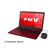 FMVA45A3R【税込】 富士通 15.6型ノートパソコン FMV LIFEBOOK AH45/A3 ルビーレッド (Office Home&Business Premium 付属) [FMVA45A3R...