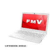 FMVA50A3WP【税込】 富士通 15.6型ノートパソコン FMV LIFEBOOK AH50/A3 プレミアムホワイト (Office Home&Business Premium 付...
