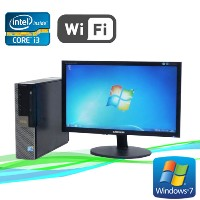 中古パソコン 無線LAN付 DELL 790SF 20ワイド液晶 Core i3 2100 3.1GHzメモリ2GBDVD-ROMWindows7R-dtb-437 /R-dtb-437/中古