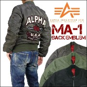 ALPHA (アルファ) MA-1/BACK EMBLEM -TIGHT JACKET- TA0112 【送料無料】【10P03Dec16】