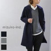 【10%OFFクーポン対象】11/27 18:00〜12/1 23:59 【outer】 mizuiro ind (ミズイロインド) mizuiro-ind.A line Pea coat 3color3-276245-o
