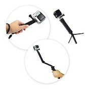 Glift(TM) GoPro互換品 3-in-1 自撮り棒 カメラグリップ 延長アーム 三脚 3-in-1 Camera Grip, Extension Arm and Tripod Mount for GoPro...