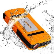防水 External バッテリー UNIFUN 10400mAh Power Bank Dustproof Shockproof/ストロング LED Flashlight and ストラップ Hole For アウト...