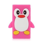 Jellybean Pink Penguin Soft Silicone Case for ipod nano 7 iPod nanoの7ピンクの3Dペンギン