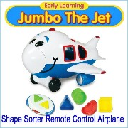 Early Learning 『Jumbo The Jet』リモートコントロール エアプレイン Shape Sorter Remote Control Airplane 飛行機 ラジコン 知...