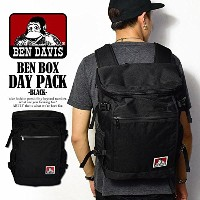 (ベンデイビス)BEN DAVIS公式 BEN BOX DAY PACK -BLACK- FREE