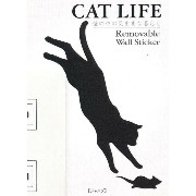 Removable Wall Sticker CAT LIFE ジャンプ WS-C