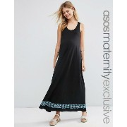 ASOS エイソス Maternity マタニティ Maxi Dress ドレス ワンピース With Embroidered Tape