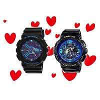 CASIO G-SHOCK/BABY-G ペアウォッチ GA-110HC-1AJF BGA-190GL-1BJF Hyper Colors Beach Traveler Series