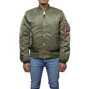 ALPHA INDUSTRIES【アルファ インダストリーズ】MA-1 フライトジャケット【SLIM FIT EU ROPEAN FIT】【VINTAGE OLIVE】FLIGHT JACKET...