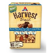 Atkins Harvest Trail Bars, Dark Chocolate Nuts Sea Salt Caramel, 1.3oz Bar, 5 Count by Atkins