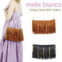 melie bianco Fringe Clutch With Chains メリービアンコ チェーン ショルダーバッグ クラッチバッグ【楽ギフ_包装選択】...