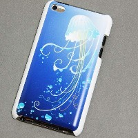iPod_touch(第4世代) ハードプロテクト特殊印刷ケース【362 ジェリーフィッシュ】デコ電カバー☆カスタムジャ...