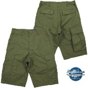 BUZZ RICKSON'S/バズリクソンズ TROUSERS, MEN'S, COTTON WIND RESISTANT POPLIN,OLIVE GREEN, ARMY SHADE (MOD.) SHORTS 6ポケット、ミリタリ...
