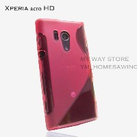 XPERIA acro HD アウトドアスタイル カバー ケース (docomo SO-03D / au IS12S 対応) Outdoor Style TPU Cover Case 【Clear Red(赤)】