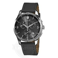 【Victorinox Swiss Army ビクトリノックス メンズ 腕時計 241479 Alliance Black Chronograph Dial Watch】