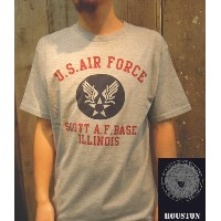 【SALE!!】【HOUSTON/ヒューストン】 Print S/S Tee U.S.Air Force/プリントS/S Tee / ミリタリー半袖TEE(USAF) -全2色- 【USコッ...