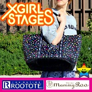 X-girl Stages ルートート エックスガール ステージス マザーズバッグ RAINBOW STAR 2way 軽量