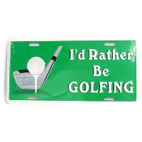 San Diego Gift I'd Rather be Golfing Metal License Plates【ゴルフ その他のアクセサリー>ホーム/オフィス】