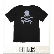 COLLARS スタッズスカルTEE (SS:TEE)(CLS-ST-0035-BK×BL)