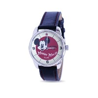 "Disney ディズニー ミッキーマウスクラブ 腕時計 ""Mickey Mouse Club"" Collectible Watch, MU2332, Special Packaging, Leather Strap"