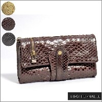 FU-SI FERNALLE/-Classic Python wallet collection-/フーシ フェルナーレアンティーク加工 パイソン × 牛革 カブセ 長財布31117...