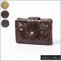 FU-SI FERNALLE/-Classic Python wallet collection-/フーシ フェルナーレアンティーク加工 パイソン × 牛革 折り財布31116 国...