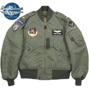 """BUZZ RICKSON'S/バズリクソンズ Jacket, Flying, light Type L-2B""""TOPS APPAREL MFG .CO.,INC. 1957 Model""""132nd Tactical Fighter Wing132TFW L-2B フ..."""