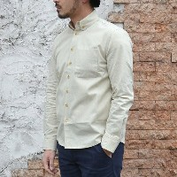 S.E.H KELLY(エス・イー・エイチ・ケリー) / LANCASTRIAN MILITARY COTTON-LINEN B.D SHIRT -80.natural-