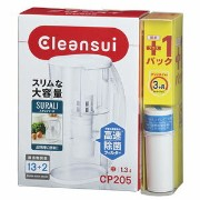 CP205W-WT【税込】 三菱レイヨンクリンスイ ポット型浄水器【CP205WT+交換カートリッジセット】1.3L Cleansui SURALI(...