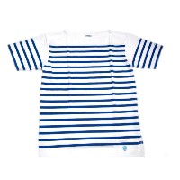 【期間限定20%OFF!】ORCIVAL(オーシバル)/#6102 S/S BOATNECK 18STRIPE TEE/white x blue