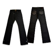 """【SKULL FLIGHT スカルフライト】ボトム/SS PANTS type2 """"STRETCH QUILTING LEATHER POCKET"""" (ブーツカット) ★送料・代引き手..."""