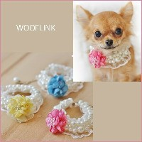 【WOOFLINK】ウーフリンクSPRING MOMENTS NECKLACE(ネックレス/犬用/猫用/ビジュー/パール/フラワー)