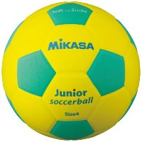 MIKASA ミカサ スマイルサッカーボール 4号 軽量球 約180g SF4J-YLG 【取り寄せ品】