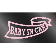 nc-smile BABY IN CAR ステッカー リボン (サーモンピンク)